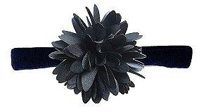 Faixinha com Flor - Azul Marinho