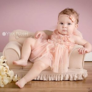 Faixinha Chanel Baby ( 4 x 2 cm )