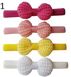 Kit Faixinha Crochet ( 4 x 3,5 cm)