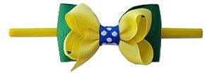 Faixinha - Tiarinha Copa do Mundo Bandeira (9 x 5 cm)