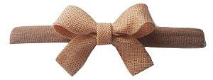 Faixinha - Tiarinha Carol Baby (4 x 3,5 cm) c/ meia nude