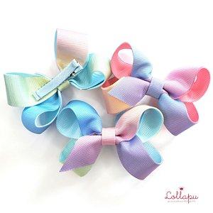 Bico de Pato Laço Degradê Candy Colors M (7 cm)