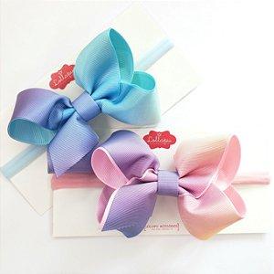Faixinha - Tiarinha Laço Degradê Candy Colors G (10 cm)