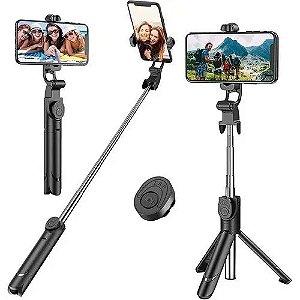 Suporte Bastão Tripé Selfie Retrátil para Celular c/ Controle Bluetooth