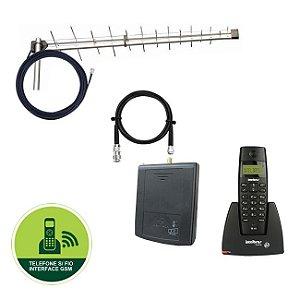 Kit Celular Rural Sem Fio + Antena 25dbi Qualquer Operadora
