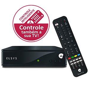 Receptor de Satelite Digital Oi TV livre HD Elsys ETRS44 Com Controle Inteligente