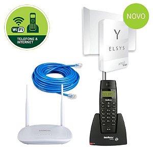 Kit Celular Rural Sem Fio Com Internet Wi-fi Elsys Amplimax Link 4G