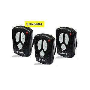 3 Controles Remoto Garen 433Mhz p/ Portão Eletrônico