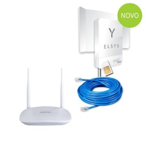 Amplimax Link 4g Elsys Roteador Externo + Wifi + Cabo 20m