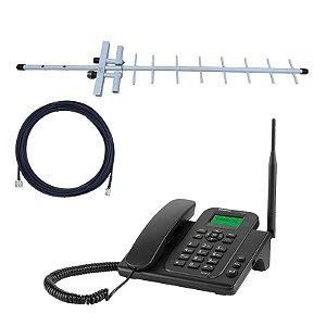 Kit Celular Fixo Rural Intelbras 4g Wi-fi + Antena Externa
