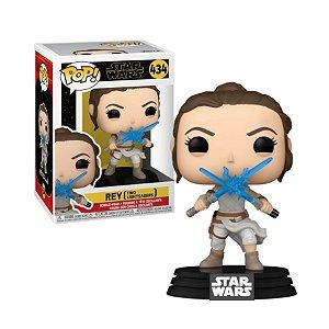 Star Wars Rey Two Lightsabers Pop - Funko