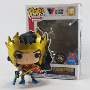 Loose Wonder Woman Mulher-Maravilha Death Metal Chase Limited Edition Px Exclusive Pop - Funko