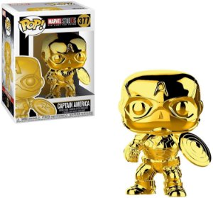 Marvel 10th Anniversary Gold Chrome Captain America Pop - Funko