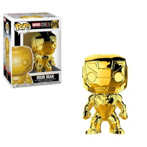 Marvel 10th Anniversary Gold Chrome Iron Man Pop - Funko