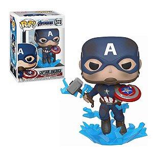 Vingadores Avengers Endgame Captain America w Broken Shield & Mjoinir Pop - Funko