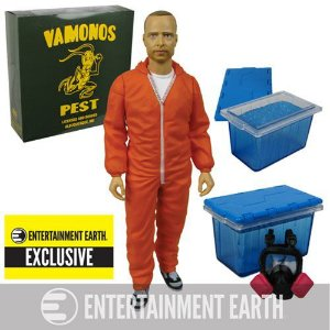Breaking Bad Jesse Pinkman Orange Hazmat Exclusive EE - Mezco