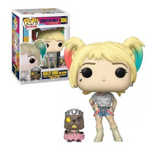 Aves de Rapina Birds of Prey Harley Quinn and Beaver Pop - Funko