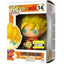 Dragon Ball Z Glow in the Dark Super Saiyan Goku Pop! - Funko