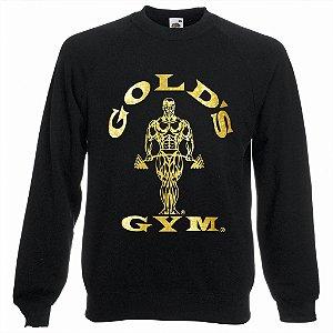 Blusa de Moletom Golds Gym Ouro cor Preta
