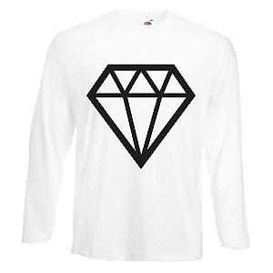 Camiseta Manga Longa Diamante