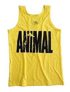 Regata Masculina Animal Cor Amarela de Algodão
