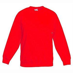 Blusa de Moletom lisa sem estampa cor vermelha