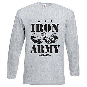 Camiseta Manga Longa Iron Army