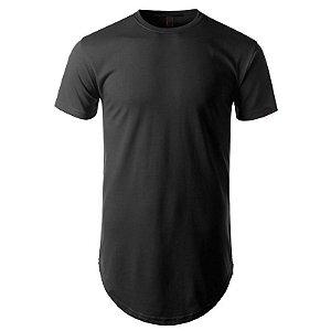 Camisa Longline cor Preta