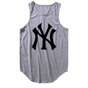 dc83850cbc Regata Longline New York Yankees cor Cinza Mescla