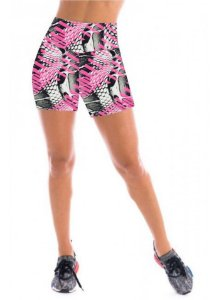Short Feminino Estampado Cintura Alta - CD:2060