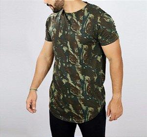 Camiseta Longline Oversized Camuflada