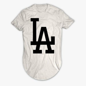 Camiseta Longline L A Los Angeles