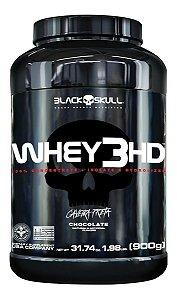 Whey Protein 3HD Caveira Preta 900g - Chocolate - Black Skull