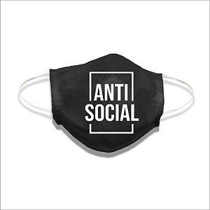 Mascara de tecido anti social