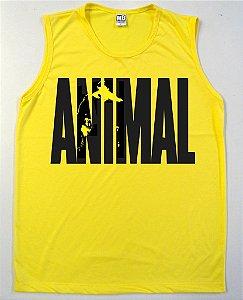 Regata Machão Animal Cor Amarela