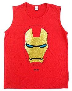 Regata Machão Homem de Ferro Mascara Dourada