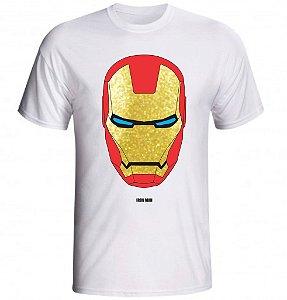 Camiseta Homem de Ferro Mascara Dourada