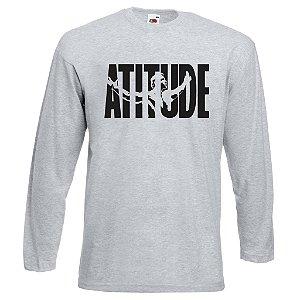 Camiseta Manga Longa Arnold Atitude cor Cinza Mescla