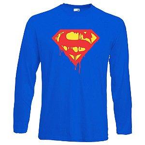 Camiseta Manga Longa Super Man S Death Azul