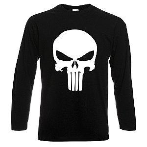 Camiseta Manga Longa O Justiceiro preta
