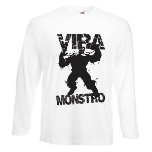 Camiseta Manga Longa Vira Monstro cor Branca