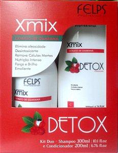 Xmix Kit Duo Detox Extrato de Guaraná Felps Profissional - 2 Produtos.