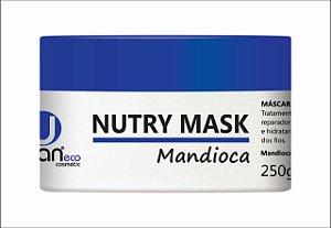 Máscara de mandioca    capilar,tratamento,com ação reparadora ,nutritiva e hidratante