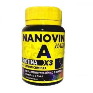 Nanovin A Suplemento Capilar Vitamina - 30 Capsulas