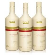 Inoar Escova Progressiva Alemã G-Hair - 3 x 1000ml