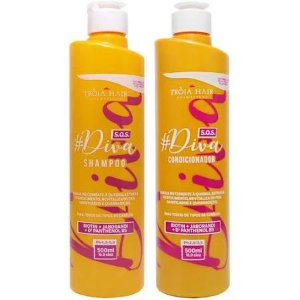 Kit S.O.S Diva Shampoo & Condicionador 500ml - Troia Hair