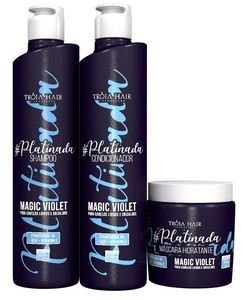 Kit Manutenção Platinada Magic Violet 500ml - Troia Hair