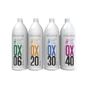 Água Oxigenada OX vol.  06, 20, 30, 40 Estabilizada Cremosa 900ml - Troia Hair