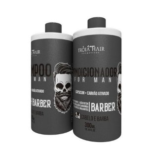 Kit Shampoo & Condicionador Cabelo e Barda for Man 300ml - Troia for Man