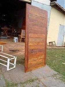 Porta de correr em Madeira de Demolição 100% Peroba rosa - Preço por M2